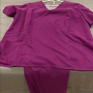 Greys anatomy scrubs top and bottom